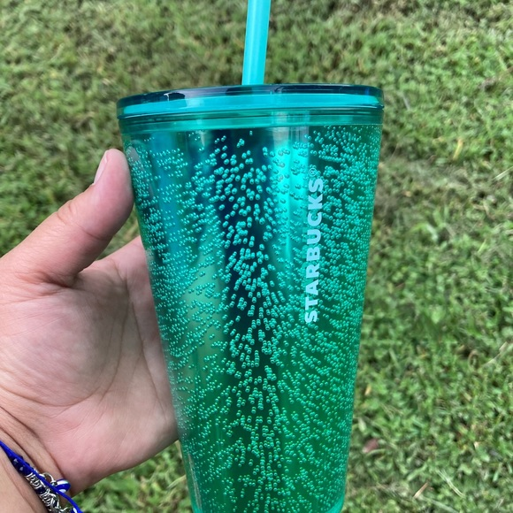 Starbucks bubble green cup